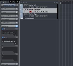The tracks and MIDI sends